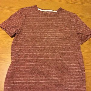 Banana Republic Pocket Tee Shirt Stripe Red White